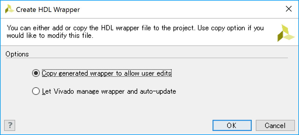 Create HDL Wrapper